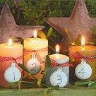 Vánoční ubrousky 33 x 33 cm, 20 ks - Adventní svíčky