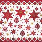 Vánoční ubrousky 33 x 33 cm, 20 ks - Severské hvězdy
