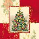Vánoční ubrousky 33 x 33 cm, 20 ks - Vánoční strom