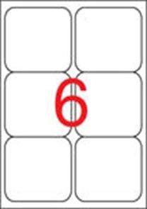 Samolepicí etikety A4 600 ks - 99,1 x 93,1 mm