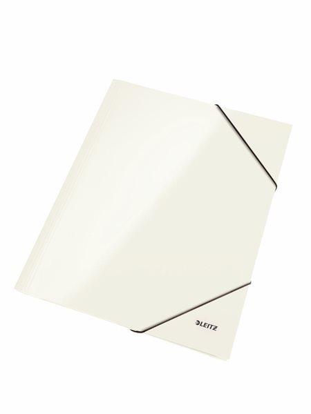 Leitz Spisové desky WOW s gumou - bílé