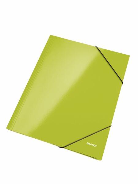 Leitz Spisové desky WOW s gumou - zelené