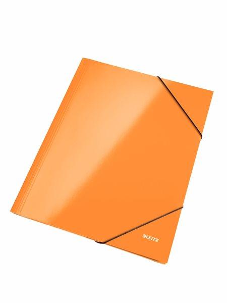 Leitz Spisové desky WOW s gumou - oranžové