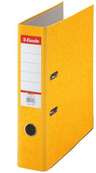 Esselte Pořadač pákový Rainbow 7,5cm kartonový - žlutý
