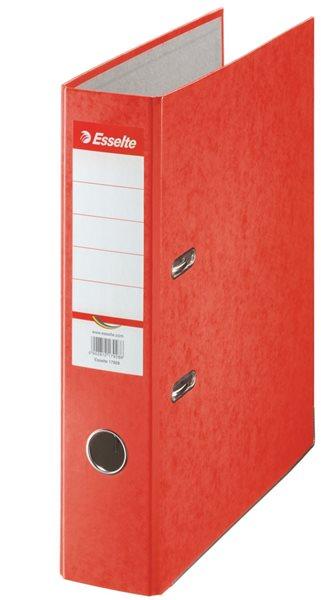 Esselte Pořadač pákový Rainbow 7,5cm kartonový - červený