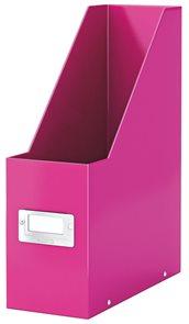 Leitz WOW Stojan na časopisy Leitz Click & Store - růžový