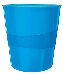 Leitz WOW Odpadkový koš - metalická modrá