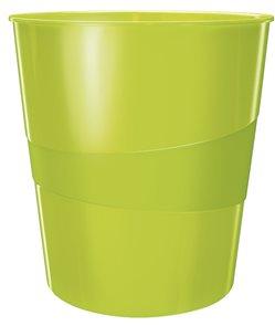 Leitz Odpadkový koš WOW - metalická zelená