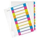 Leitz WOW Celoplastový rozdružovač A4 Maxi čísla 1-10 - mix barev