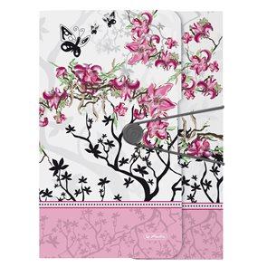 Herlitz Desky A4 se 3 chlopněmi - květy