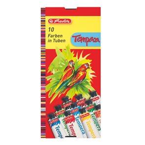 Herlitz Tempery 10 barev-tuba 16ml