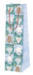 Vánoční dárková taška 10,5 x 36 x 10 cm - Magic ice