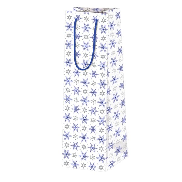 Vánoční dárková taška 7 x 21,5 x 6,5 cm - Kouzelné hvězdy
