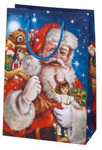 Vánoční dárková taška 19,5 × 28 × 10 cm - Dárky