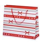 Vánoční dárková taška 36 × 31 × 10 cm - Pruhy