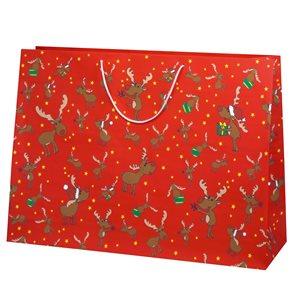 Vánoční dárková taška 59 x 42 x 18 cm - Soby