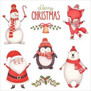 Vánoční ubrousky 33 x 33 cm, 20 ks - Vánoční party
