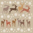 Vánoční ubrousky 33 x 33 cm, 20 ks - Vánoční jeleni