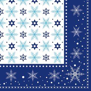 Ubrousky 33 x 33  - modré krystaly