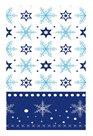Ubrus papírový vánoční 80 x 80 cm - Modré krystaly
