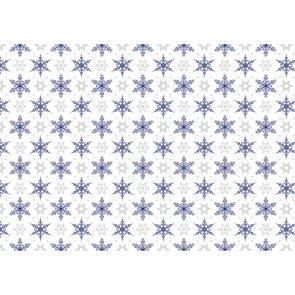 Balící papír 2m x 70cm - Modré krystaly