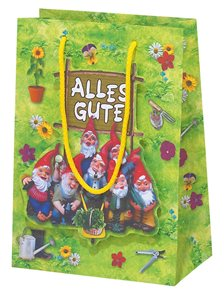 Dárková taška 16x22x8cm - Zahradní trpaslík