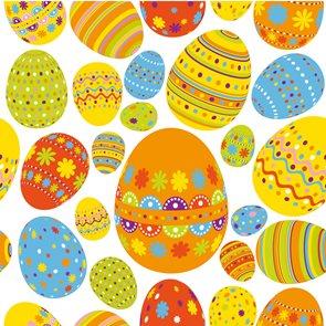 Velikonoční ubrousky 33x33 cm - Vajíčka