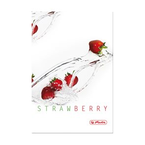 Herlitz Fresh Fruit Záznamní kniha A5 čtverečkovaná - Jahoda