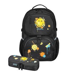 Školní batoh be. bag cube - Smiley World LE + pouzdro