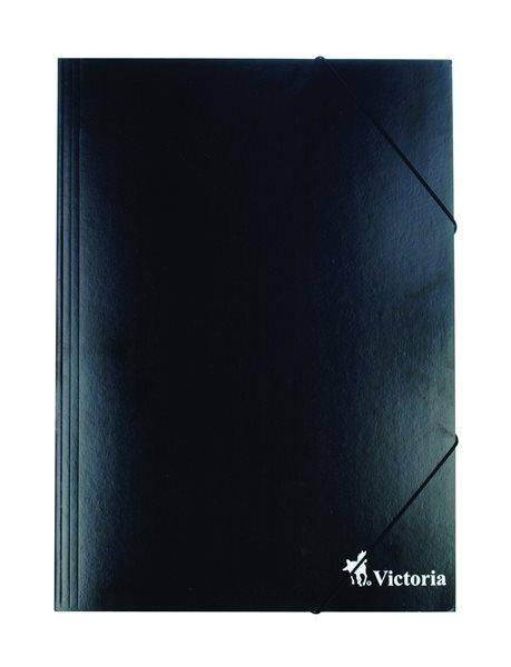Victoria Spisové desky s gumou A4 karton - černé