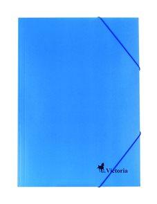 Victoria Spisové desky s gumou A4 karton - modré