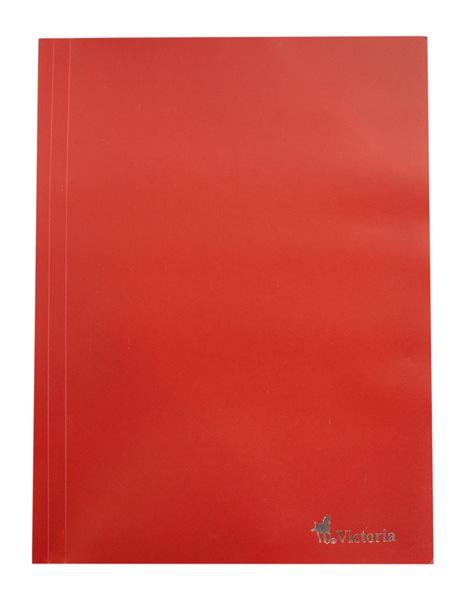 Victoria Desky s gumou PP 3 klopy A4 - červené