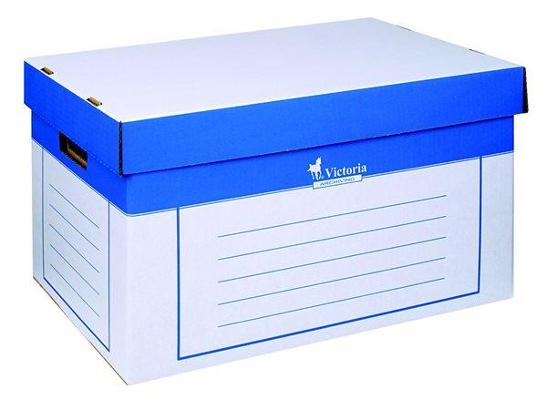 Victoria Archivační krabice s víkem 2ks - bílá