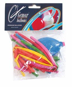 Balónky tvarovatelné s pumpičkou - mix barev