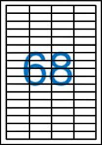 Victoria Samolepicí etikety A4 100 ks - 48,5x16,9 mm