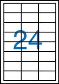 Samolepící etikety A4 64,6x33,8 mm 100ks