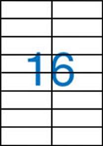Samolepicí etikety A4 100 ks - 105x37 mm