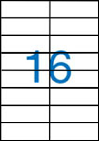 Samolepící etikety A4 105x37 mm 100ks