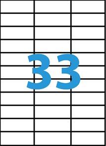 Samolepící etikety A4 70x25,4 mm 100ks