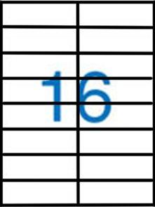 Samolepící etikety A4 105x35 mm 100ks