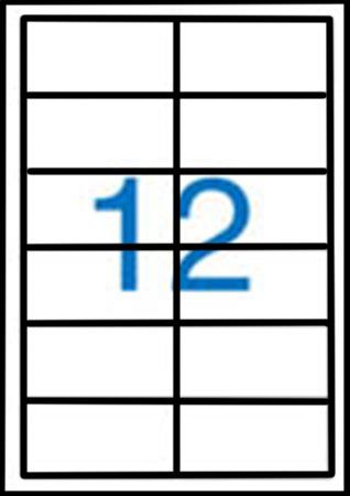 Samolepící etikety A4 97x42,4 mm 100ks