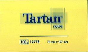 Tartan Samolepící bloček 655 76x127 - žlutý