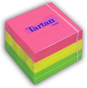 Tartan Samolepící bloček 76x76 mm - Rainbow neon