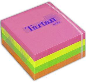 Tartan Samolepící bloček - neonové barvy
