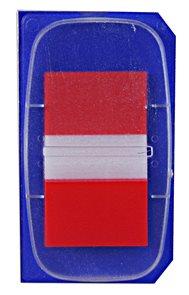 Tartan Záložky 25,4 x 43,2 mm - červené