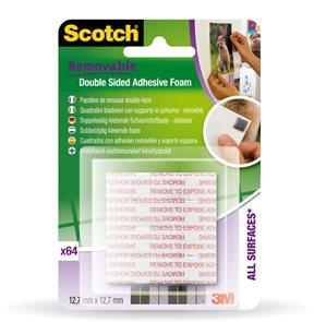 Scotch Montážní čtverečky 64ks v balení