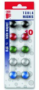 ICO Magnety JY-15/10 ks - mix barev