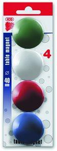 ICO Magnety JY-40/4 ks - mix barev