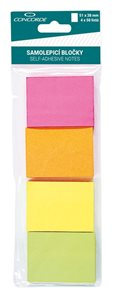 CONCORDE Samolepicí bloček neon 51x38mm - mix barev