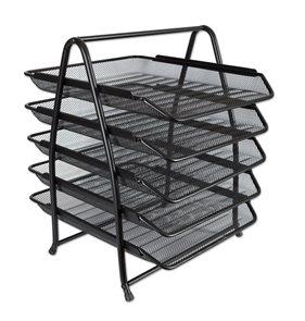Drátěný stojan pětibox - černý
